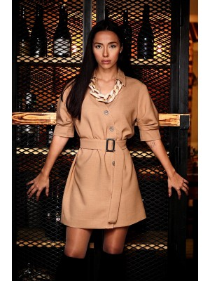 Dress Sandra Beige