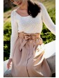 Skirt Poly Beige